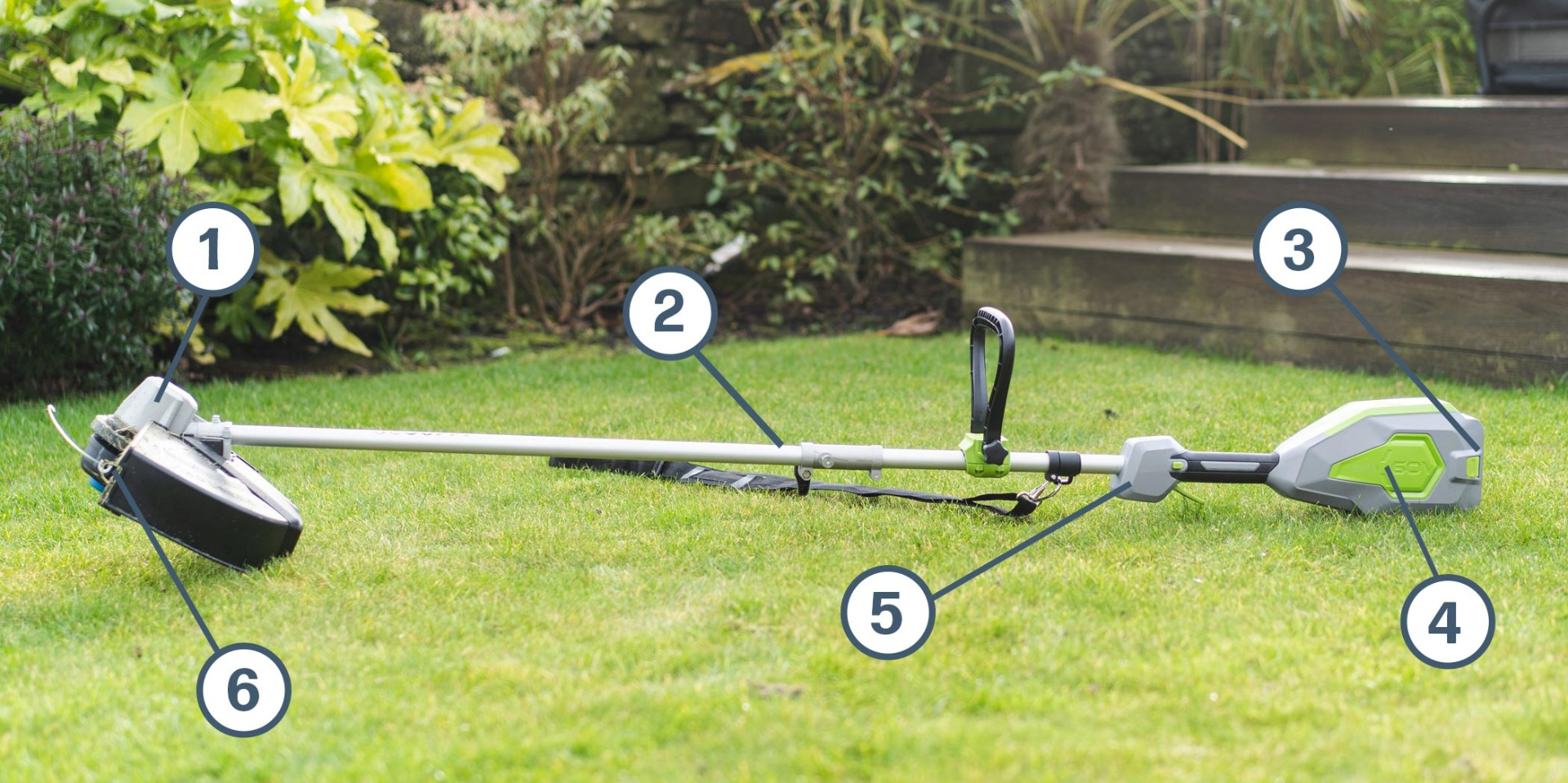 WARRIOR String Trimmer - Parts of the unit