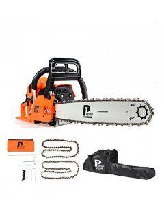"""P1PE P6220C 62cc / 20"""" Petrol Chainsaw - 2 Year Warranty"""