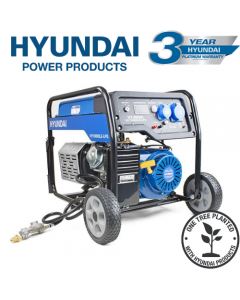 Hyundai HY10000LE-LPG  7.0kW/8.75kVA* Recoil and Electric Start Dual Fuel Site Petrol/LPG Generator