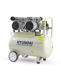 Hyundai HY27550 50 Litre Air Compressor, 11CFM/100psi, Oil Free, Low Noise, Electric 2hp
