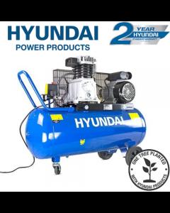 Hyundai HY3100P 14CFM, 3HP, 100 Litre Twin Cylinder Belt Drive Air Compressor
