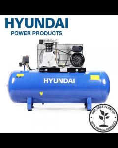 Hyundai HY3150S 14CFM, 3HP, 150 Litre Twin Cylinder Belt Drive Air Compressor