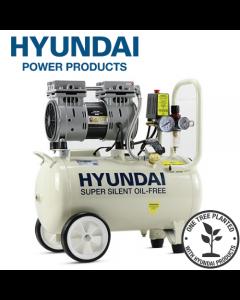 Hyundai HY7524 5.2CFM, 1HP, 24 Litre Oil Free Direct Drive Silenced Air Compressor