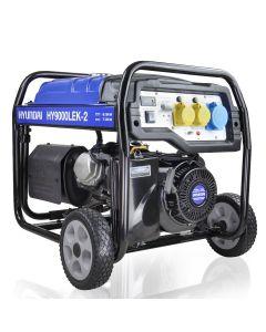 Hyundai HY9000LEK-2 7.5kW / 9.4kVa* Recoil & Electric Start Site Petrol Generator