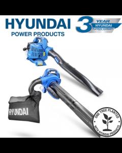 Hyundai HYBV2600X 26cc 2-Stroke 3-IN-1 Petrol Leaf Blower Garden Vac Shredder