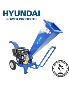 Hyundai HYCH6560 196 cc 60mm Petrol 4-Stroke Garden Wood Chipper Shredder