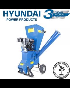 Hyundai HYCH700 208cc 76mm Petrol 4-Stroke Garden Wood Chipper Shredder Mulcher
