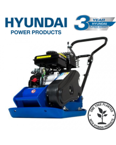 Hyundai HYCP5030 87cc Petrol Plate Compactor / Wacker Plate with Wheel Kit and Paving Pad