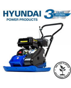 Hyundai HYCP9070 196cc Petrol Plate Compactor / Wacker Plate with Wheel Kit & Paving Pad