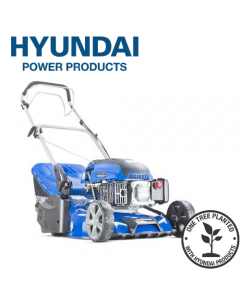 """Hyundai HYM430SPR Self Propelled 17"""" 43cm 430mm 139cc Petrol Roller Lawn Mower - Includes 600ml Engine Oil"""