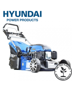"Hyundai HYM480SPER 19"" 48cm 480mm Self Propelled Electric Start 139cc Petrol Roller Lawn Mower - Includes 600ml Engine Oil"