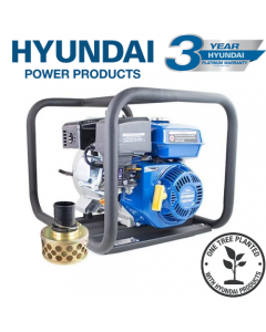 "Hyundai HYT80 208cc Professional Petrol Water Trash Pump 3""/76mm Outlet"