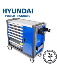 Hyundai HYTC9004 305 Piece 7 Drawer Caster Mounted Roller Premium Tool Chest Cabinet With XXL Stainless Steel Top