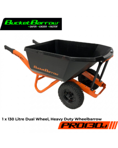 PRO130D Wheelbarrow 130 L (Only) with Dual Wheel- BucketBarrow